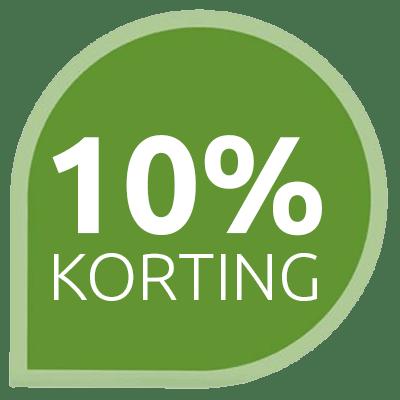 10% Korting voor nieuwe klanten